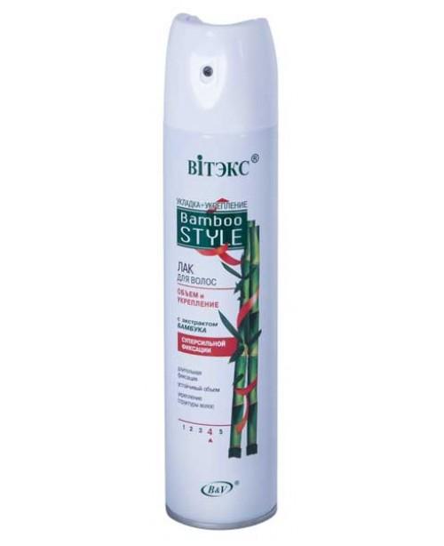 Лак для волосся аерозольний_Bamboo Style_ЛАК для ук-я в-я ОБ'ЄМ і ЗМ-Я з екс.бамб с/с ф. (аер),300мл