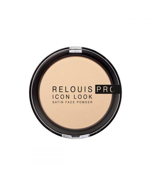 ПУДРА компактна RELOUIS PRO Icon Look Satin Face Powder_ тон 01, 9 г