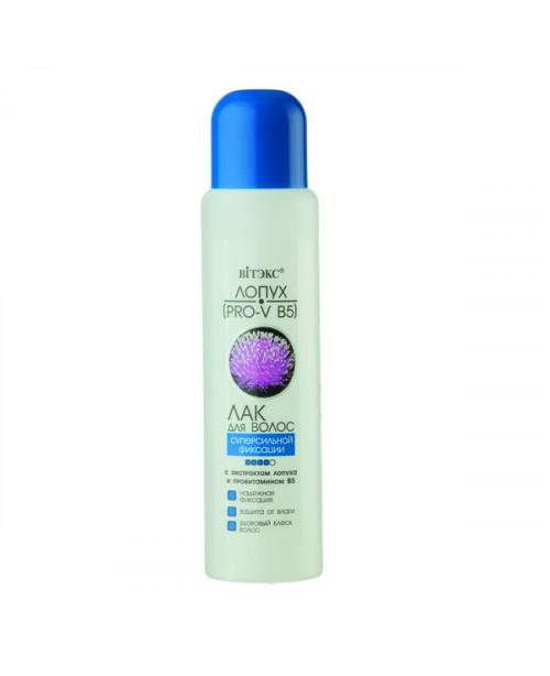 Для гіпермаркетів_ЛАК для волосся С/сильної фіксації з екстрактом лопуха і провітаміном В5, 500 мл