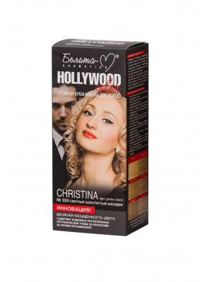 КРЕМ-КРАСКА стойкая для волос Hollywood color_ тон 324  Christina (светлый золотистый блондин)