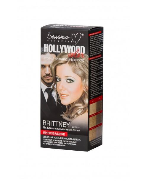 КРЕМ-ФАРБА стійка для волосся Hollywood color_ тон 326 Brittney (попелястий світло-русявий)