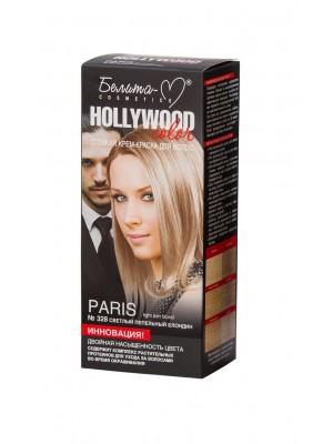 КРЕМ-ФАРБА стійка для волосся Hollywood color_ тон 328 Paris (світлий попелястий блондин)