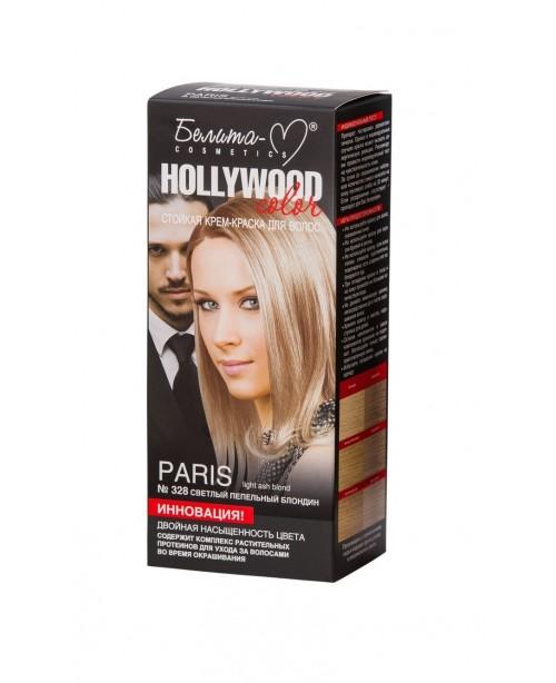 КРЕМ-КРАСКА стойкая для волос Hollywood color_ тон 328 Paris (светлый пепельный блондин)