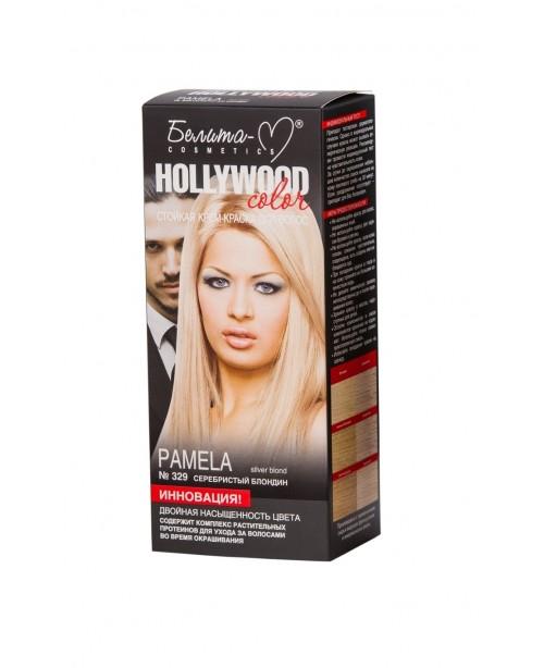 КРЕМ-КРАСКА стойкая для волос Hollywood color_ тон 329 Pamela (серебристый блондин)