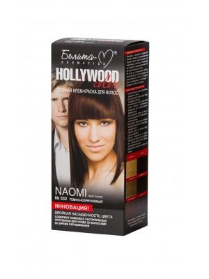 КРЕМ-КРАСКА стойкая для волос Hollywood color_ тон 332 Naomi (темно-коричневый)