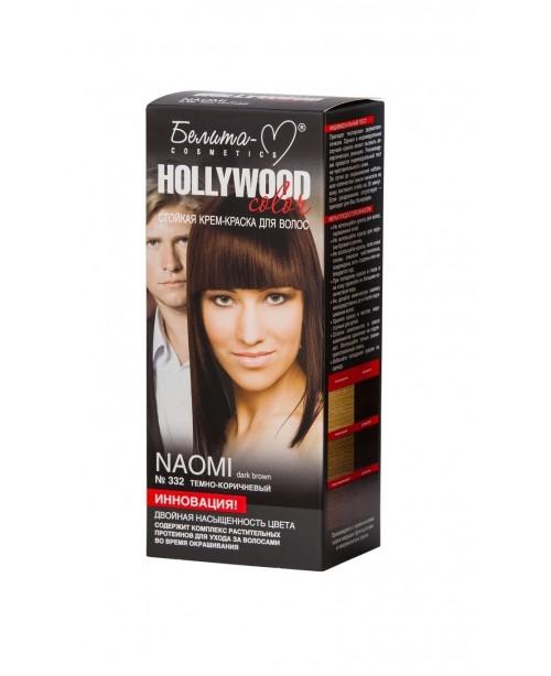 КРЕМ-ФАРБА стійка для волосся Hollywood color_ тон 332 Naomi (темно-коричневий)