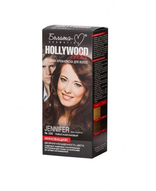 КРЕМ-КРАСКА стойкая для волос Hollywood color_ тон 335 Jeniferr (темно-каштановый)
