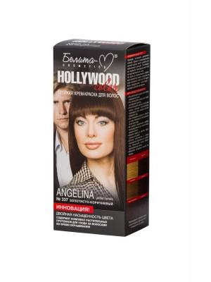 КРЕМ-ФАРБА стійка для волосся Hollywood color_ тон 337 Angelina (золотисто-коричневий)