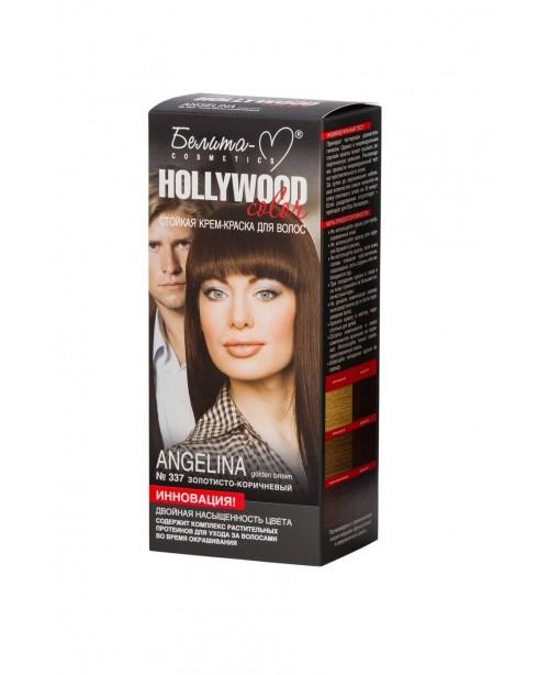 КРЕМ-КРАСКА стойкая для волос Hollywood color_ тон 337 Angelina (золотисто-коричневый)