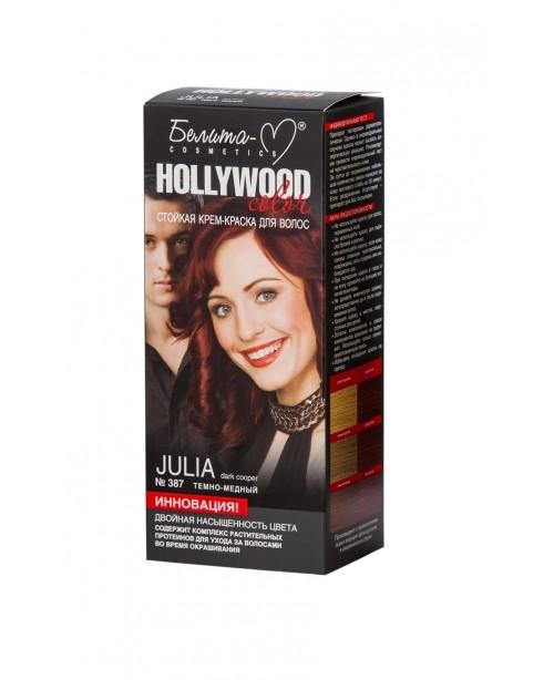 КРЕМ-ФАРБА стійка для волосся Hollywood color_ тон 387 Julia (темно-мідній)