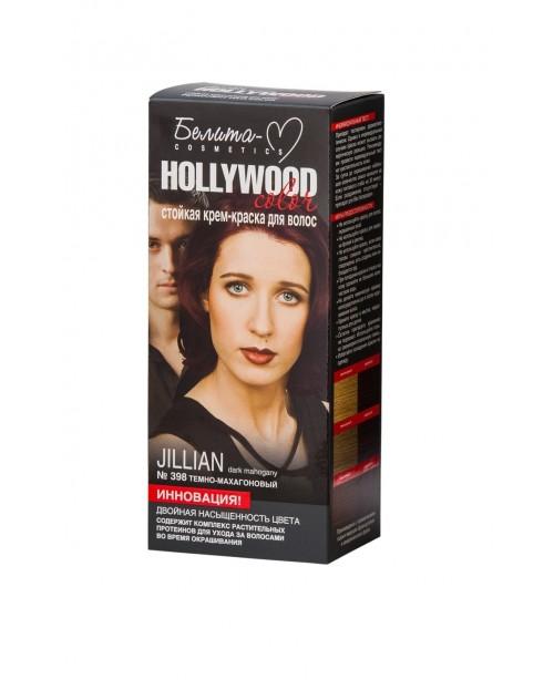 КРЕМ-ФАРБА стійка для волосся Hollywood color_ тон 398 Jillian (темно-махагоновий)