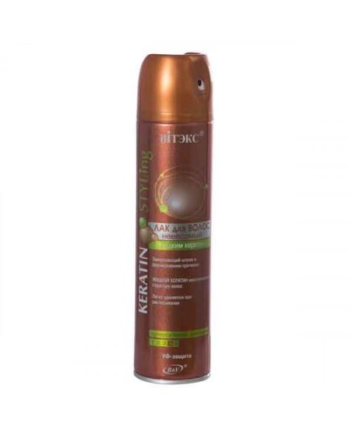 KERATIN STYLing_ЛАК для волосся невагомий з рідким кератином с/с фіксації, 300 мл