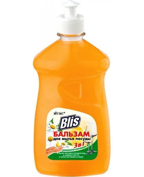 BLIS_БАЛЬЗАМ для миття посуду 3в1 Ромашка+вітамін В5, 485 мл