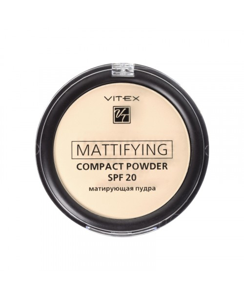 ПУДРА Матуюча компактна для обличчя Mattifying compact powder SPF20_ тон 01
