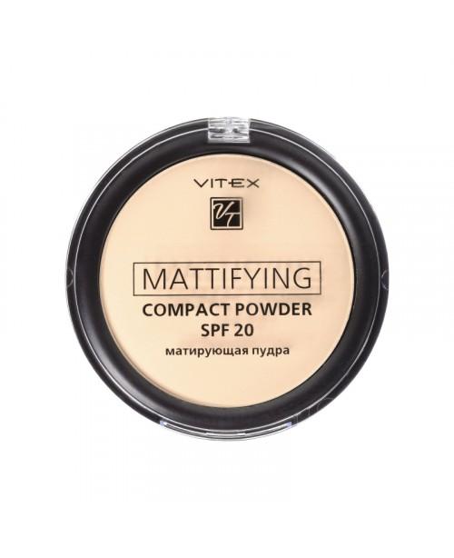 ПУДРА Матуюча компактна для обличчя Mattifying compact powder SPF20_ тон 02