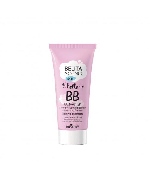 BELITA YOUNG SKIN_ ВВ-ХАЙЛАЙТЕР з тонуючим ефектом для молодої шкіри Бездоганне сяйво, 30 мл