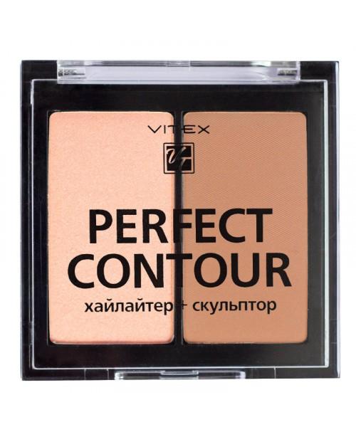 ПАЛЕТКА для контурингу PERFECT CONTOUR VITEX_ тон 02 Bronze