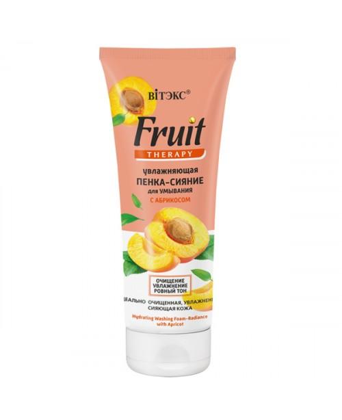 FRUIT Therapy для обличчя_ ПІНКА-СЯЙВО Зволожуюча для вмивання з АБРИКОСОМ, 200 мл
