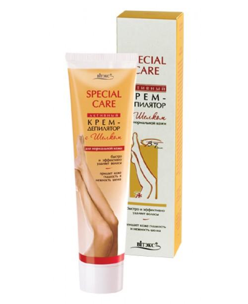 SPECIAL CARE_КРЕМ-ДЕПІЛЯТОР активний з шовком для нормальної шкіри, 120 мл