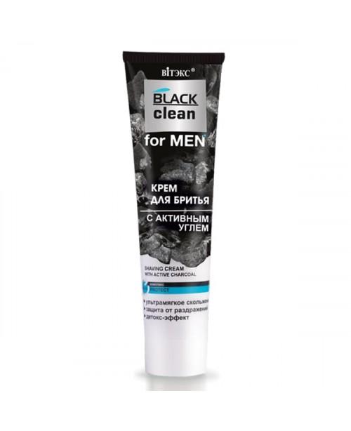 BLACK CLEAN FOR MEN_ КРЕМ для бритья с активным углем, 100 мл