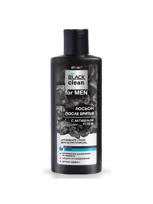 BLACK CLEAN FOR MEN_ ЛОСЬЙОН після гоління з активним вугіллям, 150 мл