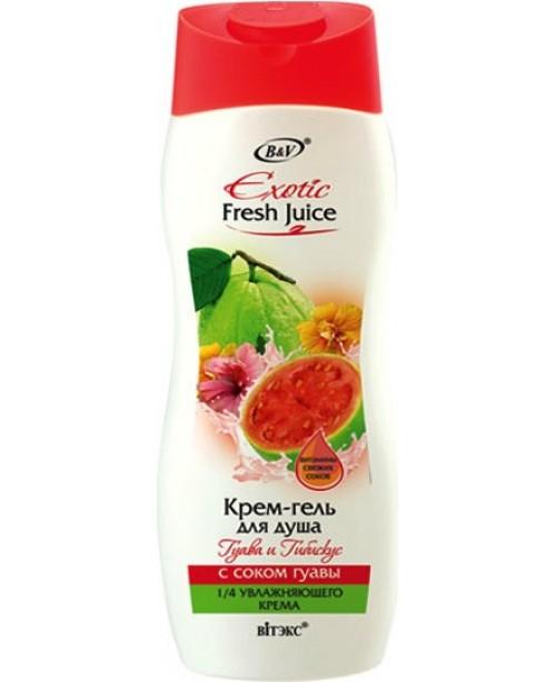 Exotic Fresh_КРЕМ-ГЕЛЬ для душу Гуава і гібіскус, 500 мл