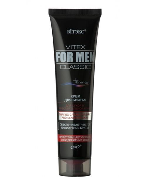 VITEX FOR MEN CLASSIC Крем для бритья для сухой и чувствительной кожи, 100мл