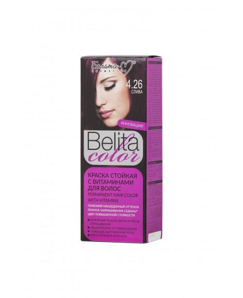 ФАРБА стійка з вітамінами для волосся Belita сolor_ тон 04.26 Слива
