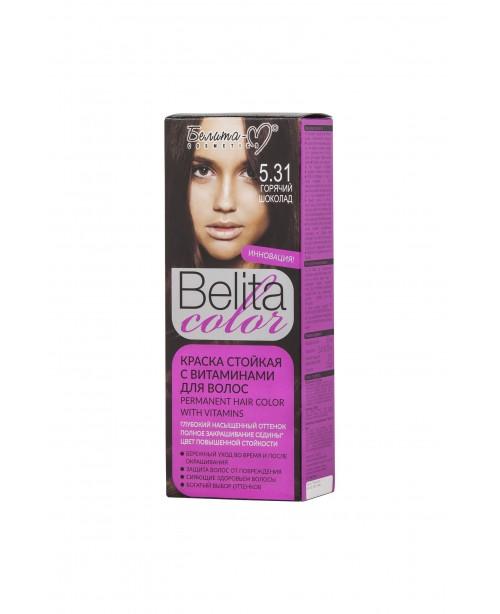 КРАСКА стойкая с витаминами для волос Belita сolor_ тон 05.31 Горячий шоколад
