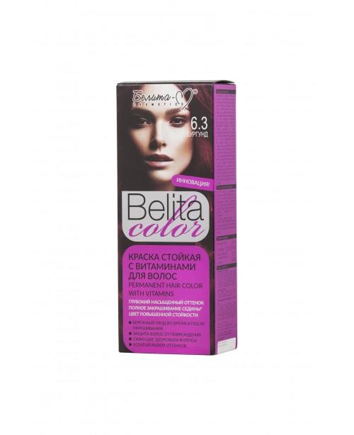 ФАРБА стійка з вітамінами для волосся Belita сolor_ тон 06.3 Бургунд