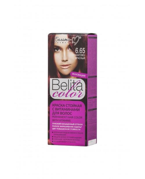ФАРБА стійка з вітамінами для волосся Belita сolor_ тон 06.65 Гранатово-червоний