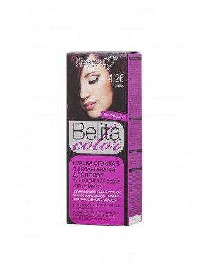 КРАСКА стойкая с витаминами для волос Belita сolor_ тон 04.26 Слива