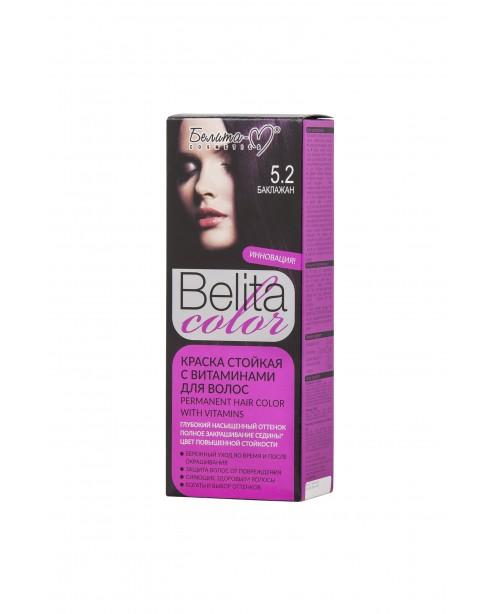 ФАРБА стійка з вітамінами для волосся Belita сolor_ тон 05.2  Баклажан