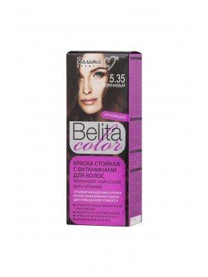 КРАСКА стойкая с витаминами для волос Belita сolor_ тон 05.35  Коричневый