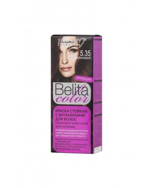 ФАРБА стійка з вітамінами для волосся Belita сolor_ тон 05.35  Коричневий