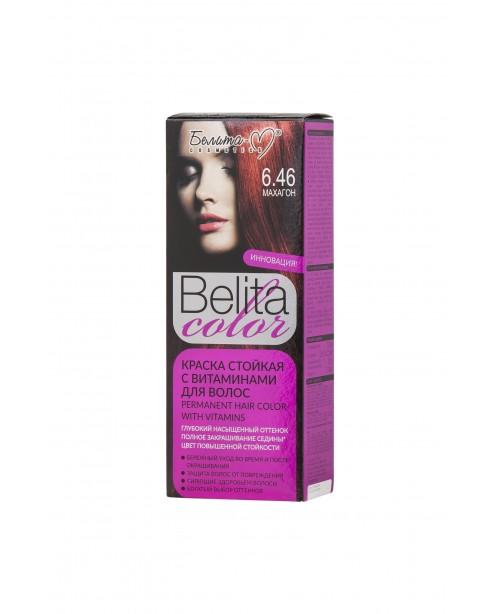 ФАРБА стійка з вітамінами для волосся Belita сolor_ тон 06.46 Махагон