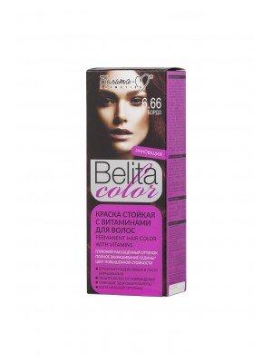 ФАРБА стійка з вітамінами для волосся Belita сolor_ тон 06.66 Бордо