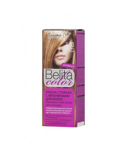 ФАРБА стійка з вітамінами для волосся Belita сolor_ тон 09.33 Горіхово-русявий