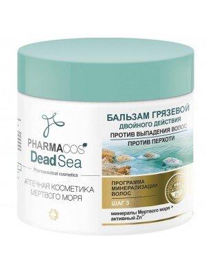 PHARMACOS DEAD SEA_ БАЛЬЗАМ грязьовий подвійної дії проти випадіння волосся, проти лупи, 400 мл