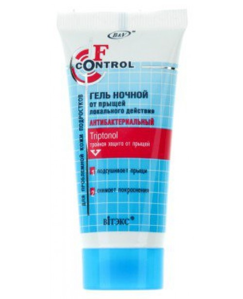 F-control_ГЕЛЬ нічний від прищів локальної дії для проблемної шкіри підлітків, 30 мл
