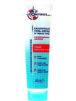 F-control_ГЕЛЬ-СКРАБ щоденний від чорних точок з  антибактеріальним комплексом для підлітків, 100 мл