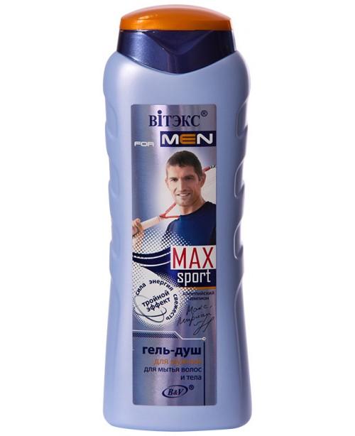 VITEX for MEN sport MAX_ГЕЛЬ-ДУШ для миття волосся і тіла, 400 мл