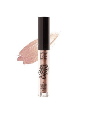 ТЕНИ жидкие тени для век LAB colour, Glitter&Chrome_ 01 Hey, Nude, 2,6 мл