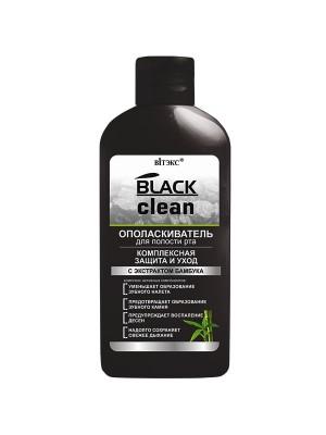BLACK CLEAN_ ОПОЛІСКУВАЧ для порожнини рота Комплексний захист і догляд, 285 мл