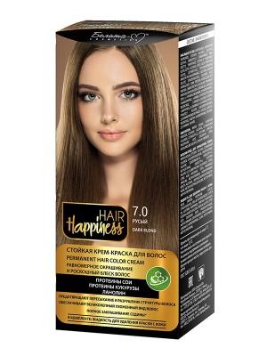 КРЕМ-ФАРБА Аміачна для волосся HAIR Happiness_ тон 07.0 Русявий