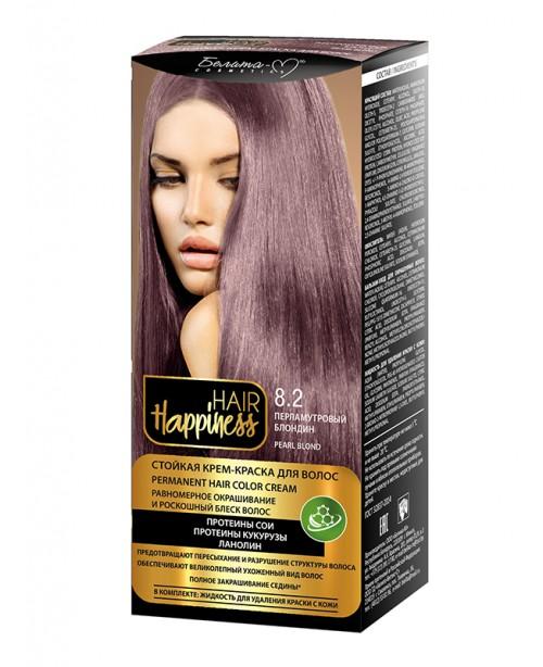 КРЕМ-ФАРБА Аміачна для волосся HAIR Happiness_ тон 08.2 Перламутровий блондин