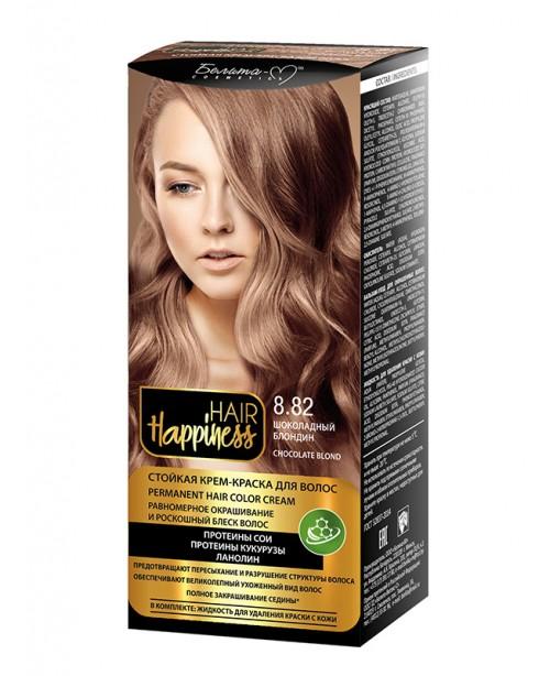 КРЕМ-ФАРБА Аміачна для волосся HAIR Happiness_ тон 08.82 Шоколадний блондин