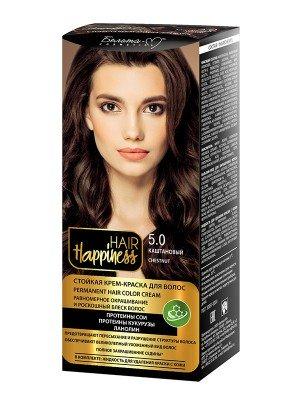 КРЕМ-ФАРБА Аміачна для волосся HAIR Happiness_ тон 05.0 Світло-каштановий