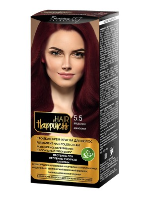 КРЕМ-ФАРБА Аміачна для волосся HAIR Happiness_ тон 05.5 Махагон
