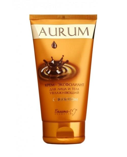 Aurum_ КРЕМ-ЭКСФОЛИАНТ для лица и тела увлажняющий с золотом, 145 г